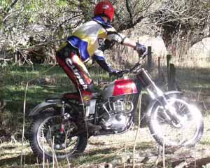 Classic Trials, Alan Mason. Triumph Trophy Trials